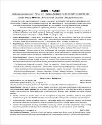 Sample Resume Construction Project Manager 8 Sample Project Manager Resumes Pdf Word