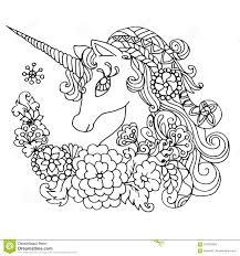 Unicorno Bianco Favoloso Del Libro Da Colorare Illustrazione