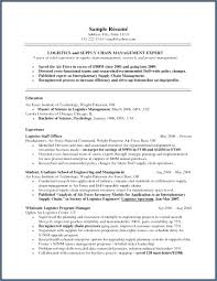 Supply Chain Management Resume Custom Supply Chain Management Resume Nppusaorg