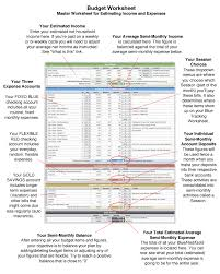If You Get Paid Semi Monthly Quick Reference Guide Budget Worksheet Moneyslinger