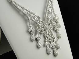 chandelier diamond necklace in 18k white gold 15in chn y8rn 652 w
