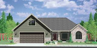 house front color elevation view for 10059 one story house plans house plans with bonus