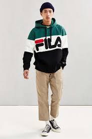 fila overalls. fila colorblocked hoodie sweatshirt fila overalls