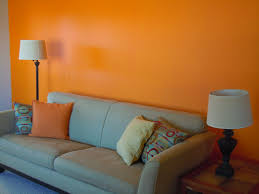 orange wall paintorange paint living room  Centerfieldbarcom