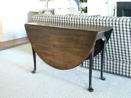 round drop leaf kitchen table white