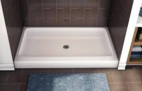 kohler tresham shower base acrylic shower base with built in seat