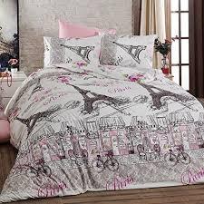 details about paris eiffel tower themed 100 cotton bedding duvet cover set single twin 3 pcs