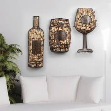 metal wine bottle wall decor cork cage