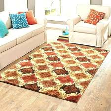 black and orange rug area rugs bright colors colored red brown tan plush couch horse canyonwood red navy brown rug