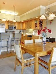 Wohnesszimmer In Der Nähe Von Luxus Küche In Der Wohnung