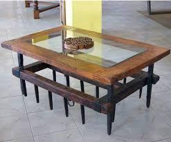 rustic coffee table 53 33 el roure