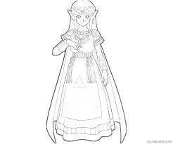 Zelda coloring pages toon link. Princess Zelda Coloring Pages To Print Coloring4free Coloring4free Com