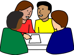 round table discussion clipart. diverse student group work round table discussion clipart ,