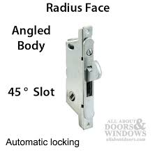 adams rite mortise lock 45 å slot auto lock sliding patio door angled stainless steel