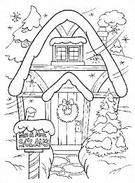 Small Picture Winter coloring pages santa clauss house ColoringStar