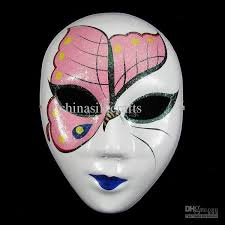 Decorating Masquerade Masks High Quality Paper Mache Full Face Handmade Decorating Masquerade 53