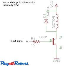 dc motor driver circuits one direction motor control