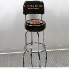 Harley Davidson Bar Shield Bar Stool with Backrest