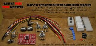 mac3w guitar amplifier harness