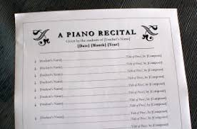 Just Added Piano Recital Program Template 2 Color In My