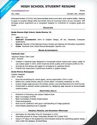 Resume For Highschool Students Making A Resume For High School