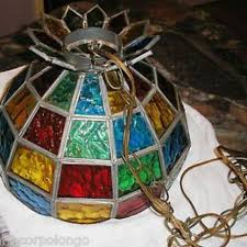stained glass hanging lamps amazing vintage leaded light lamp chandelier shade with 0