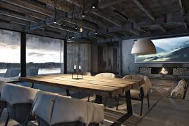 industrial style home lighting. Contemporary Dining Space With Rustic Table Arts And Crafts Room Lighting Industrial Style Home E