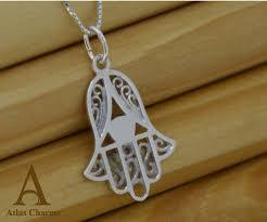 925 sterling silver fatima hand set necklace pendant jewellery jewelry atlas charm