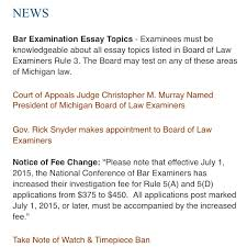 cryptic statement by ble stranger topics on the mi bar exam  michigan board of law examiners news