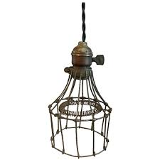industrial steel wire cage pendant light for at 1stdibs wire cage pendant light wire industrial