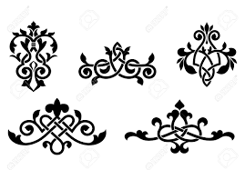 Medieval Design Patterns Retro Patterns And Elements In Medieval Style For Design And