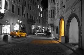cool black and white photography with color. Beautiful Photography 4blackwhiteyellowcolorsplashcab With Cool Black And White Photography Color
