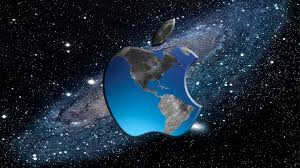 cool apple logos in space. hd pics photos best space apple logo earth map sky stars quality desktop background wallpaper cool logos in l