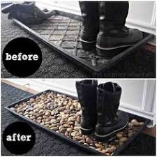 Decorative Boot Tray 60 Minute Boot Tray Makeover With River Rocks Boot tray Trays 46