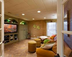 ... Astonishing Basement Decoration With Various Basement Track Lighting :  Beauteous Living Room Basement Decoration Using Basement ...