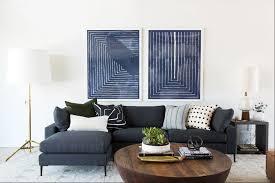 studio mcgee contemporary blue living room inspiration