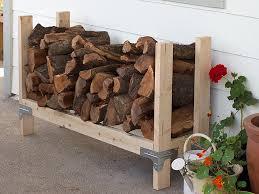 Furniture Accessories:Simple Easy Diy Wooden Firewood Storage Design Idea  Creative Firewood Storage Designs Ideas