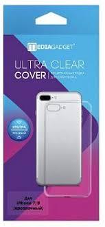 Купить <b>Чехол</b>-<b>накладка MediaGadget</b> iPhone 7/8 прозрачный по ...