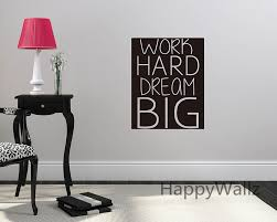 office wall stickers. Online Shop Work Hard Dream Big Motivational Quote Wall Sticker Decorative Inspirational Office Decal Custom Colors Q92 | Aliexpress Stickers