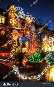 Dyker Heights Christmas Lights Tour 2017 Brooklyn New York December 20 2017 Stock Photo Edit Now