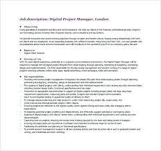 Project Management Job Duties Job Description Project Manager ...