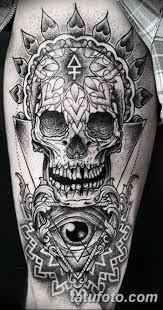 фото рисунка сахарный череп тату 30102018 025 Sugar Skull