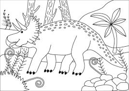 Disegno Di Dinosauro Triceratopo Del Cretacico Da Colorare Disegni