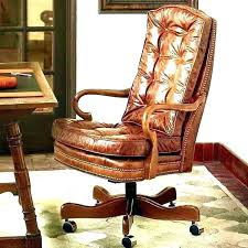 leather tufted office chair for executive desk mid back white high traditional burdy of brown