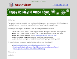 examples of successful email templates a case study audaxium holiday email