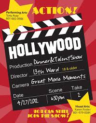 Hillmark Design Hollywood Dinner Talent Show Flyer