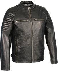 milwaukee leather men s quilted shoulders snap collar leather jacket black hi res
