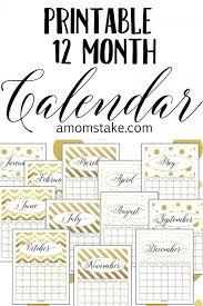 free printable 12 month calendar free printable 12 month calendar a moms take