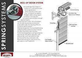 roll up door system