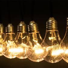 10 lamp bulbs string light